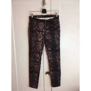 Zara Snake Skin Print Skinny Pants with Crease 4